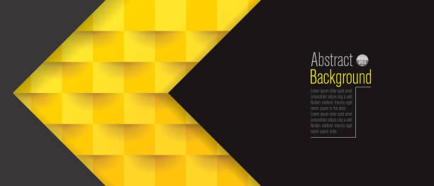 bildbanksillustrationer, clip art samt tecknat material och ikoner med gul och svart abstrakt bakgrund vektor. - gul bakgrund
