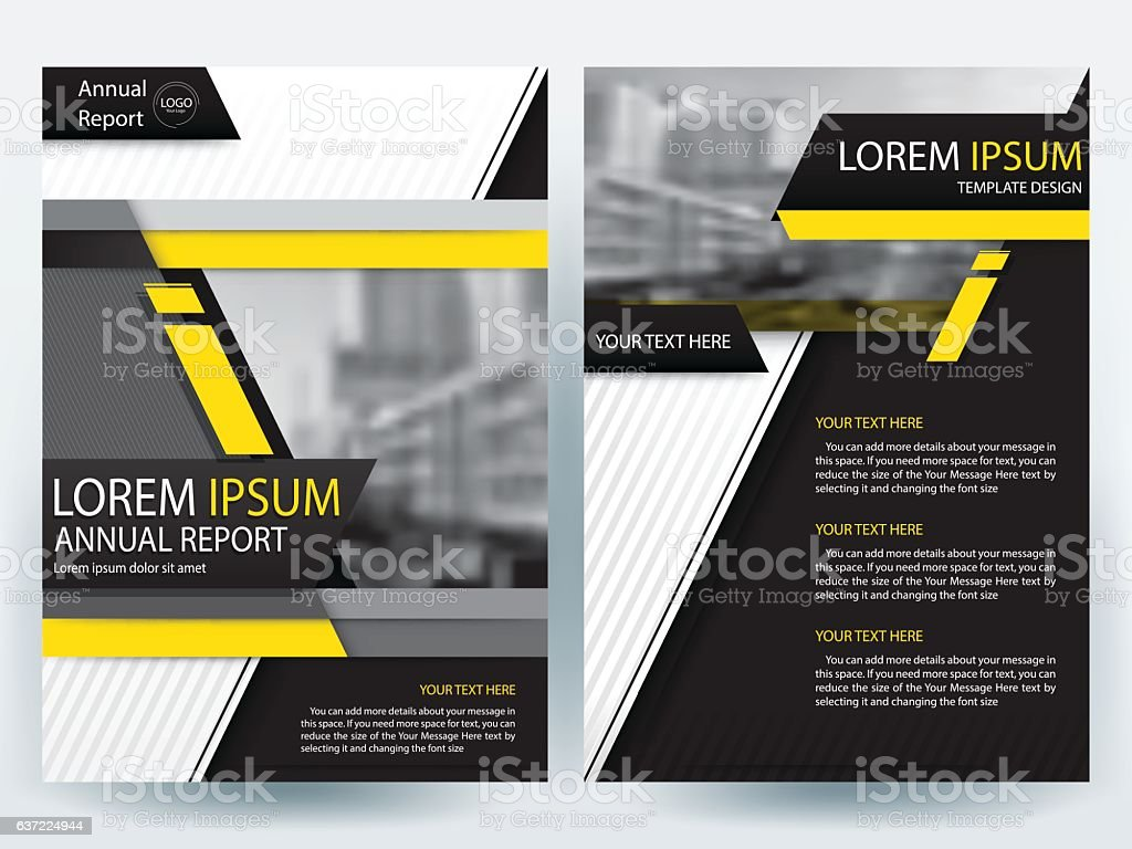 yellow and black brochure design templates layout vector