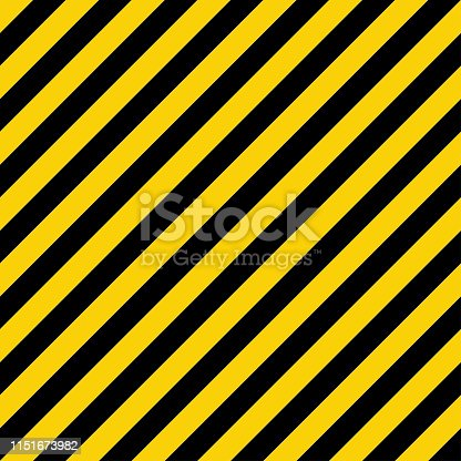 Yellow and black liner pattern. Warning industrial sign. Diagonal geometric lines. EPS 10