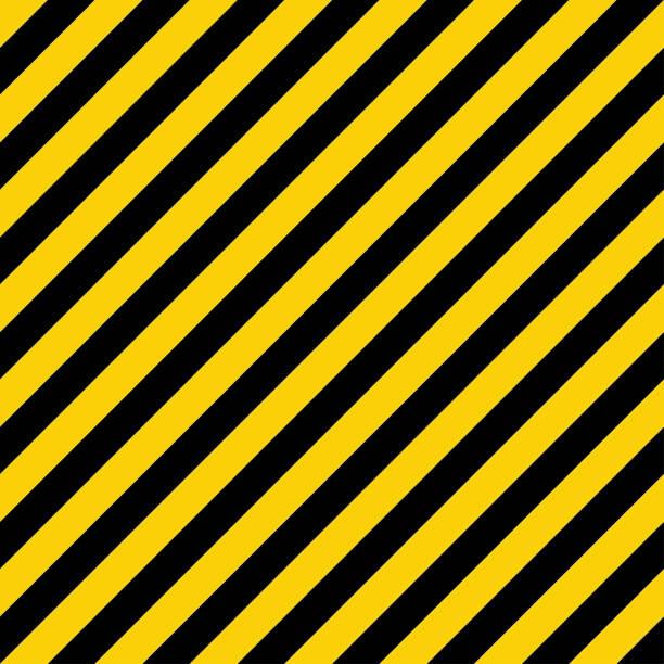 ilustrações, clipart, desenhos animados e ícones de teste padrão amarelo e preto do forro. sinal industrial de advertência. linhas geométricas diagonais. - consciência negra
