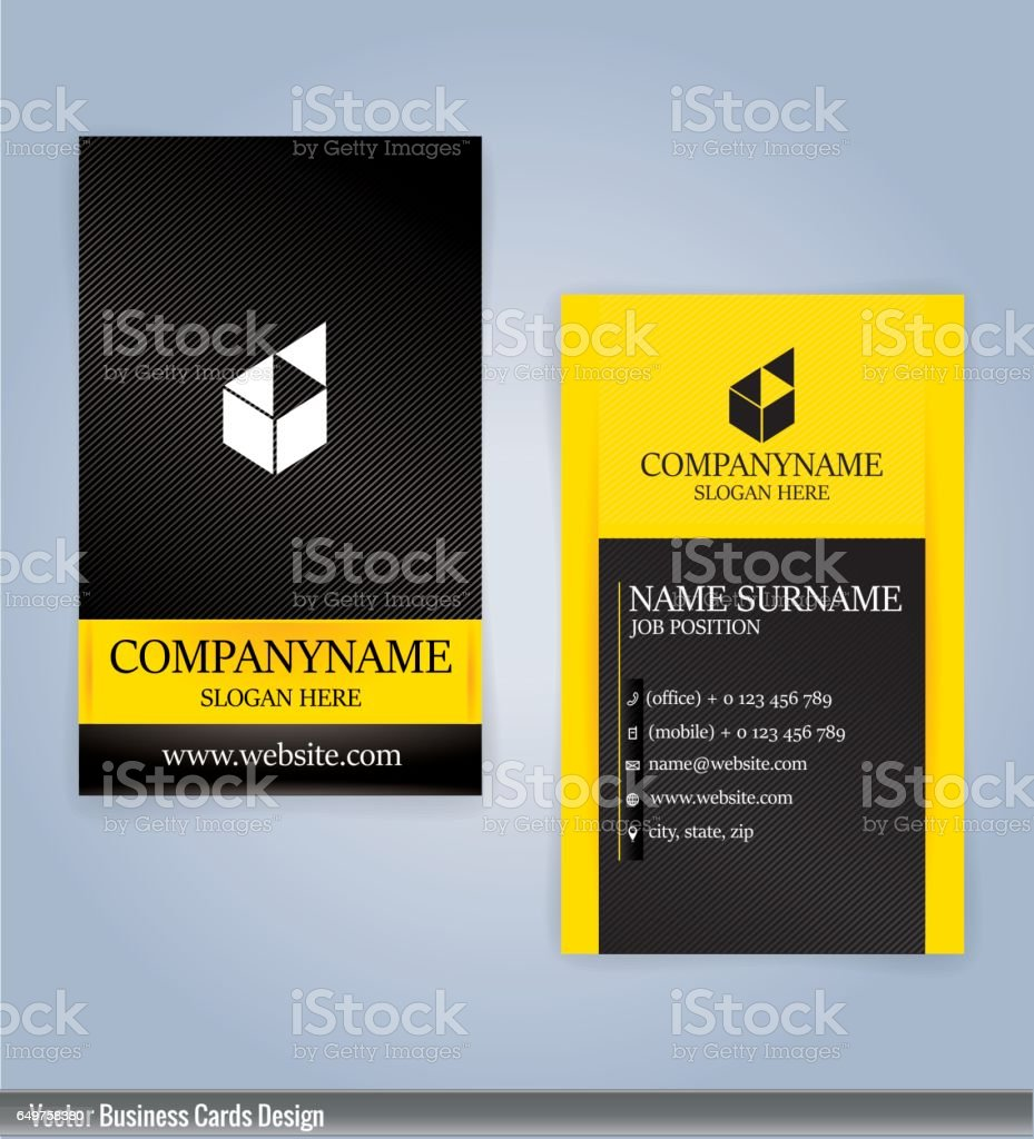 Yellow and black modern business card vertical template illustration yellow and black modern business card vertical template illustration vector 10 royalty free yellow fbccfo Images