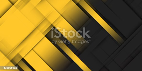istock Yellow and black unusual background with subtle rays of light 1335928992
