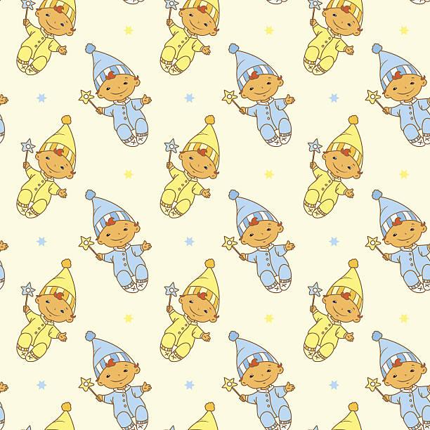 gelb und blau elves - gartendekorationen stock-grafiken, -clipart, -cartoons und -symbole