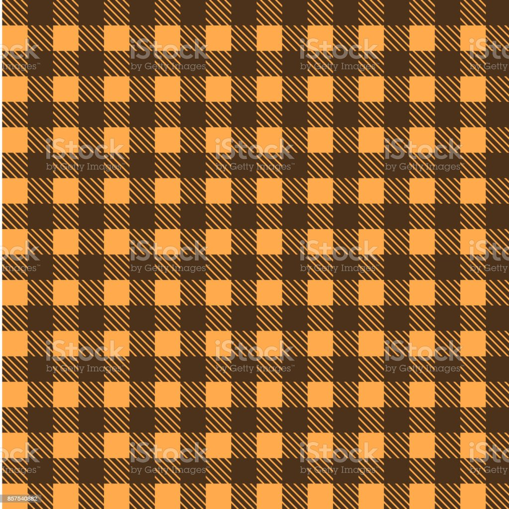Yellow And Brown Seamless Tablecloth Vector. Seamless Traditional Tablecloth  Pattern Vector. Geometrical Simple Square