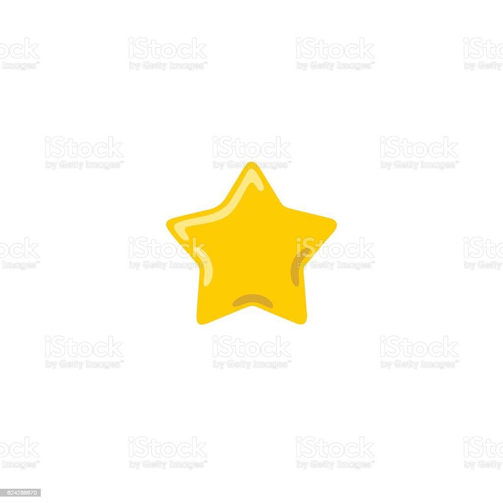 Yellow and golden vector star icon illustration vector art illustration