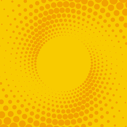 Yellow and orange retro comic background. Vector illustration in the style of pop art.