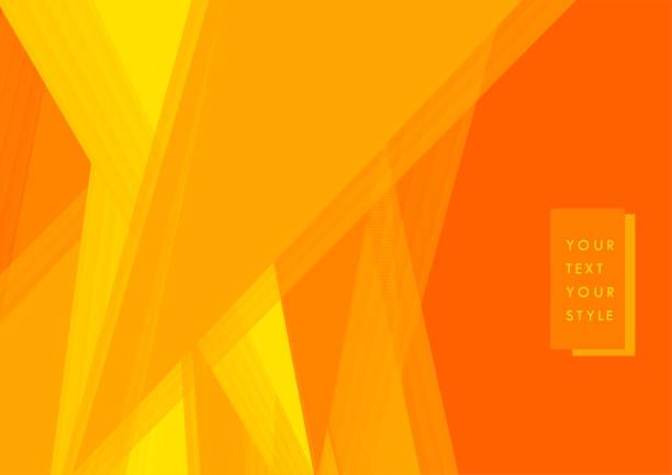 bildbanksillustrationer, clip art samt tecknat material och ikoner med gult och orange färg teknik konceptet minimal bakgrund. - orange bakgrund
