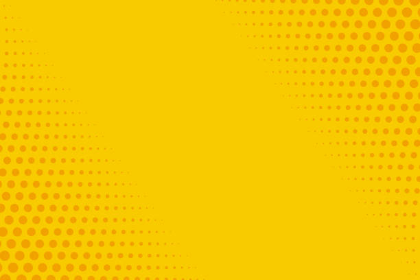 yellow and orange retro comic background vector illustration - поп арт stock illustrations