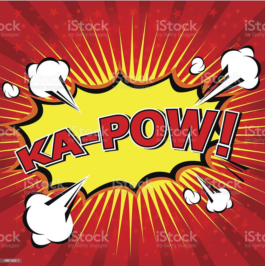 Yellow and red Ka-Pow! Comic Speech Bubble royalty-free stock vector art