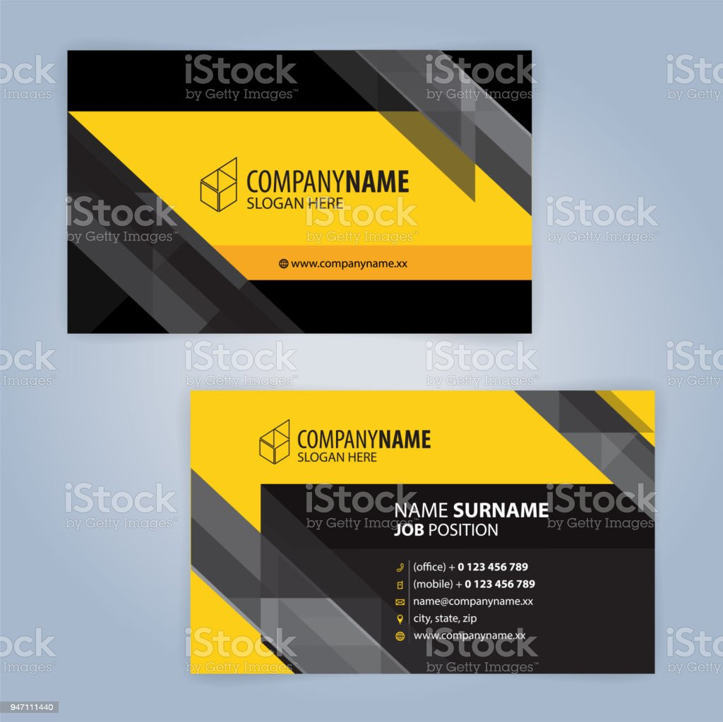 Yellow and white modern business card template illustration vector yellow and white modern business card template illustration vector 10 royalty free yellow and flashek Gallery