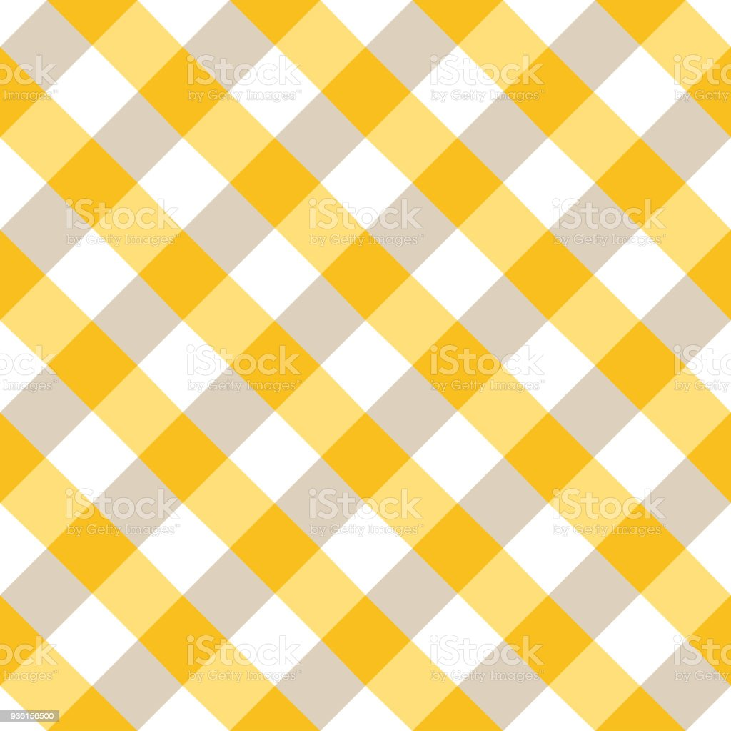 Yellow And White Tablecloth Argyle Pattern Royalty Free Yellow And White  Tablecloth Argyle Pattern Stock