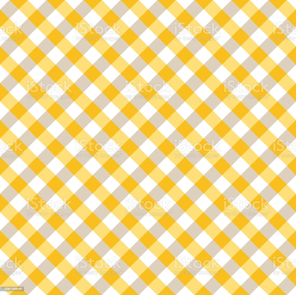 Yellow And White Tablecloth Argyle Pattern Stock Vector Art U0026 More Images  Of Abstract 936156636 | IStock