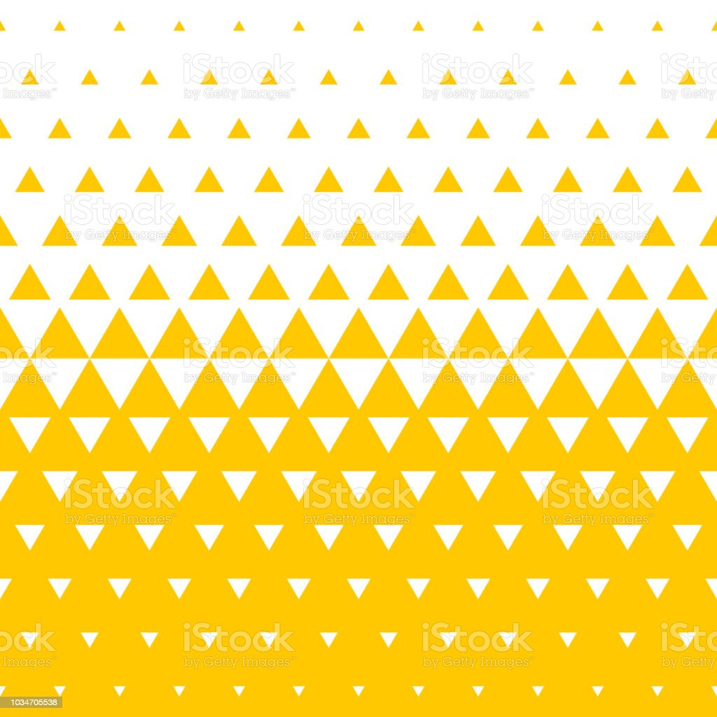 Yellow and white triangular halftone transition pattern background. Vector abstract seamless pattern of irregular gradation triangles in mosaic texture background design royalty-free yellow and white triangular halftone transition pattern background vector abstract seamless pattern of irregular gradation triangles in mosaic texture background design stock illustration - download image now