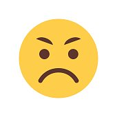 Yellow Angry Cartoon Face Emoji People Emotion Icon