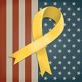 Support our troops with this stylized awareness ribbon.