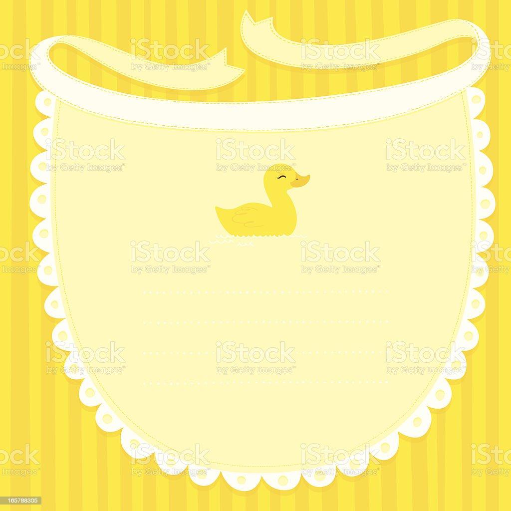 Bavoir Monture jaune Canard - Illustration vectorielle