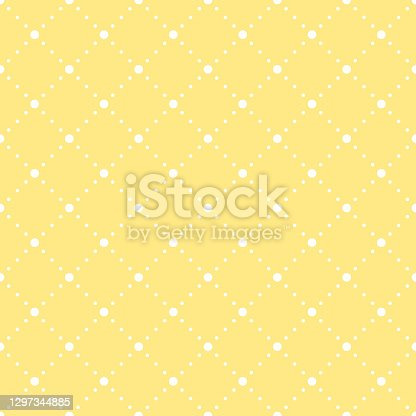 yellow baby repetitive background with dots. vector seamless pattern. classic stylish texture. fabric swatch. wrapping paper. continuous print. design element for textile, apparel, decor