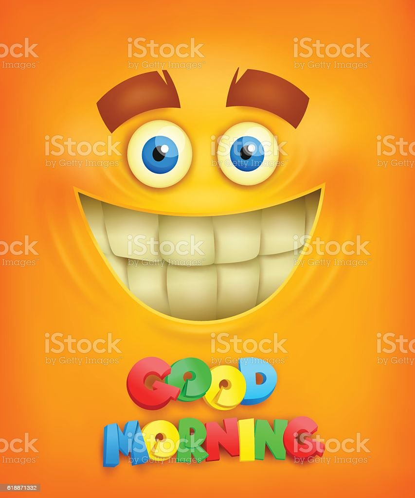 Yellow background with smiley face good morning concept stock yellow background with smiley face good morning concept royalty free yellow background with smiley voltagebd Gallery