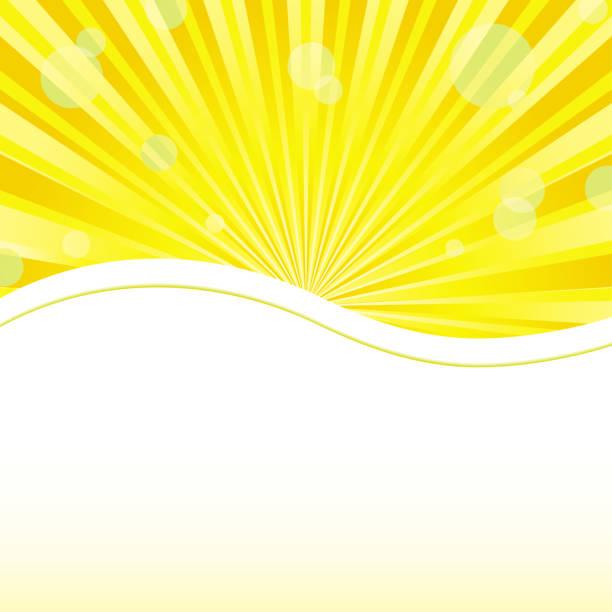 Yellow background with sunshine light vector art illustration