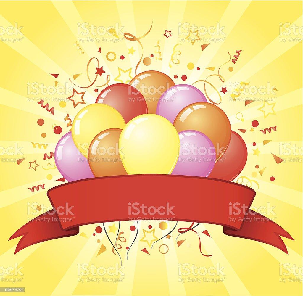 Yellow balloons design royalty-free stock vector art