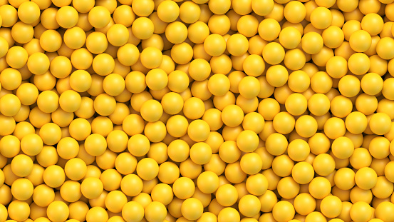 Yellow balls vector background