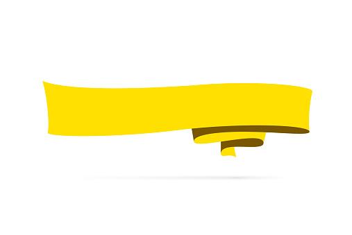 Yellow banner - Design Element on white background