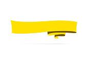 istock Yellow banner - Design Element on white background 1278951719