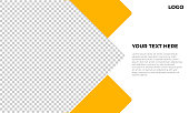 yellow banner template stock illustration
