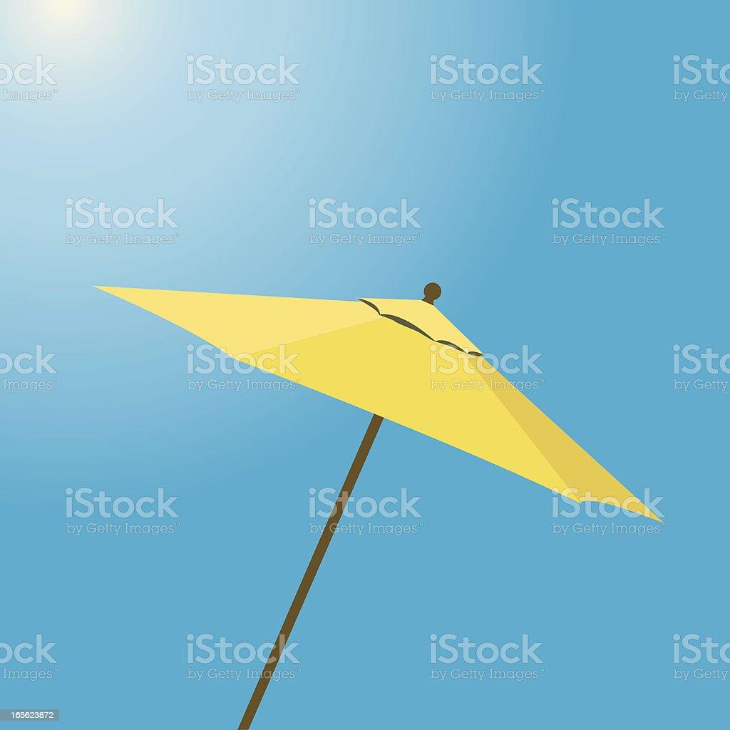 Yellow Beach Umbrella royalty-free stock vector art