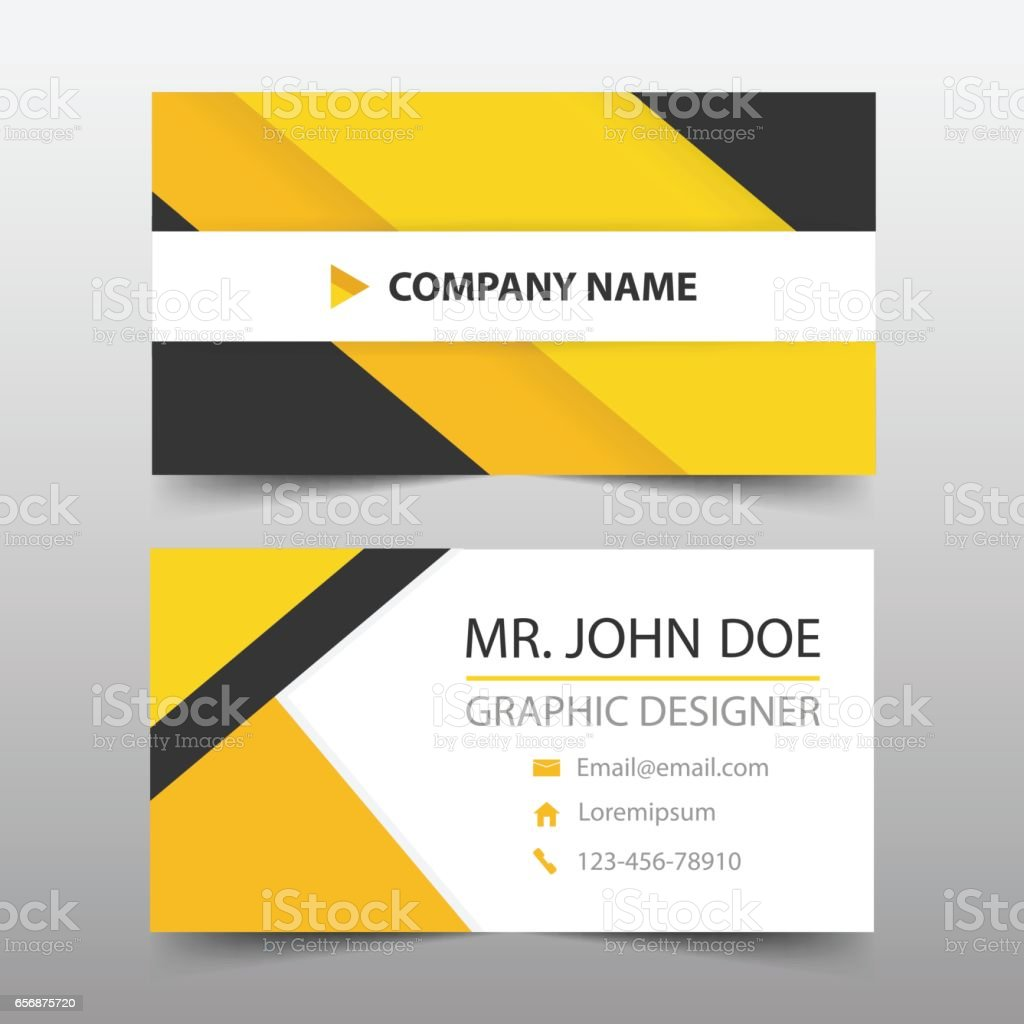 Yellow Black Corporate Business Card Name Card Template Horizontal ...
