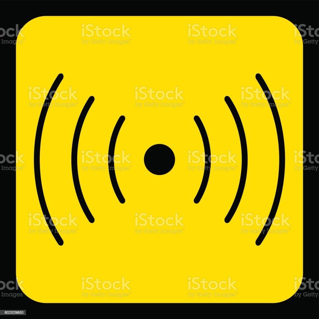 Gelb Schwarze Zeichen Ton Vibration Symbol Symbol Stock Vektor Art ...
