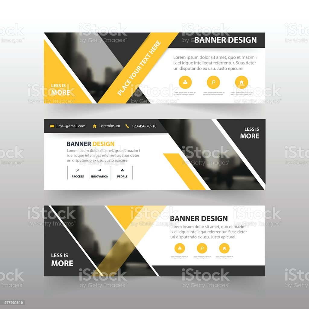 Yellow black triangle corporate business banner template horizontal yellow black triangle corporate business banner template horizontal advertising business royalty free yellow black maxwellsz