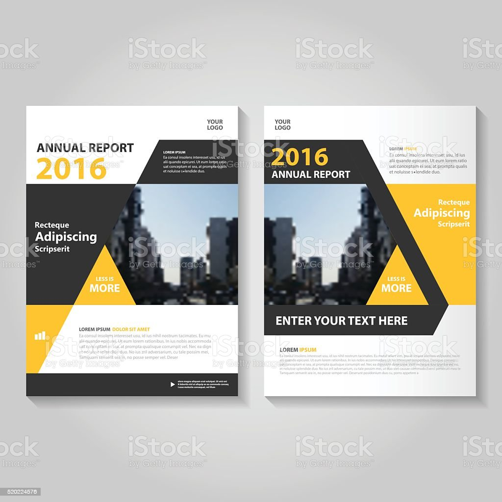yellow black vector annual report leaflet brochure flyer template design royalty free yellow black vector