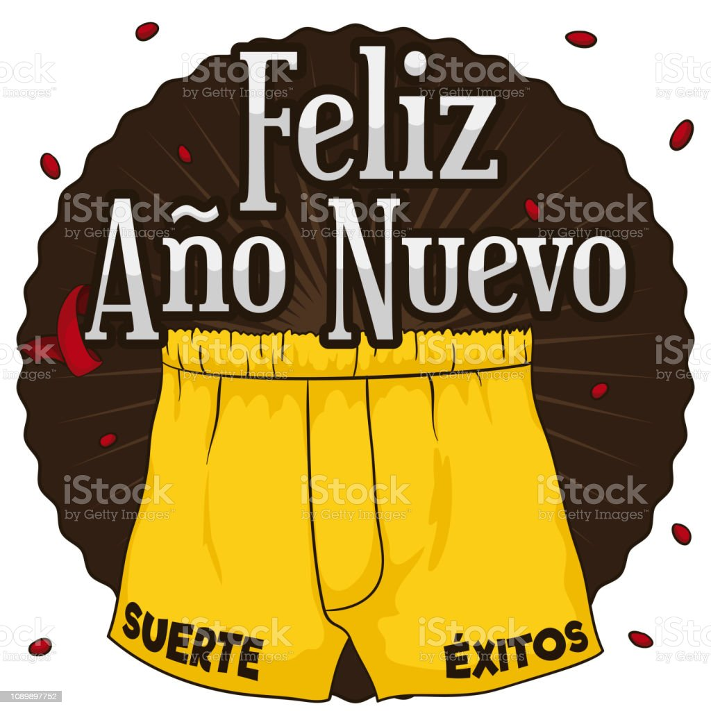 Yellow Boxers Ready for Omen in New Year Celebration vector art illustration