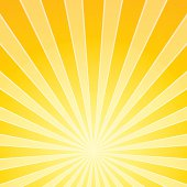 Yellow Bright Light Beams