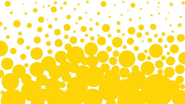 Yellow bubbles background Bubble, Beer - Alcohol, Backgrounds, Yellow, Pattern alcohol drink designs stock illustrations