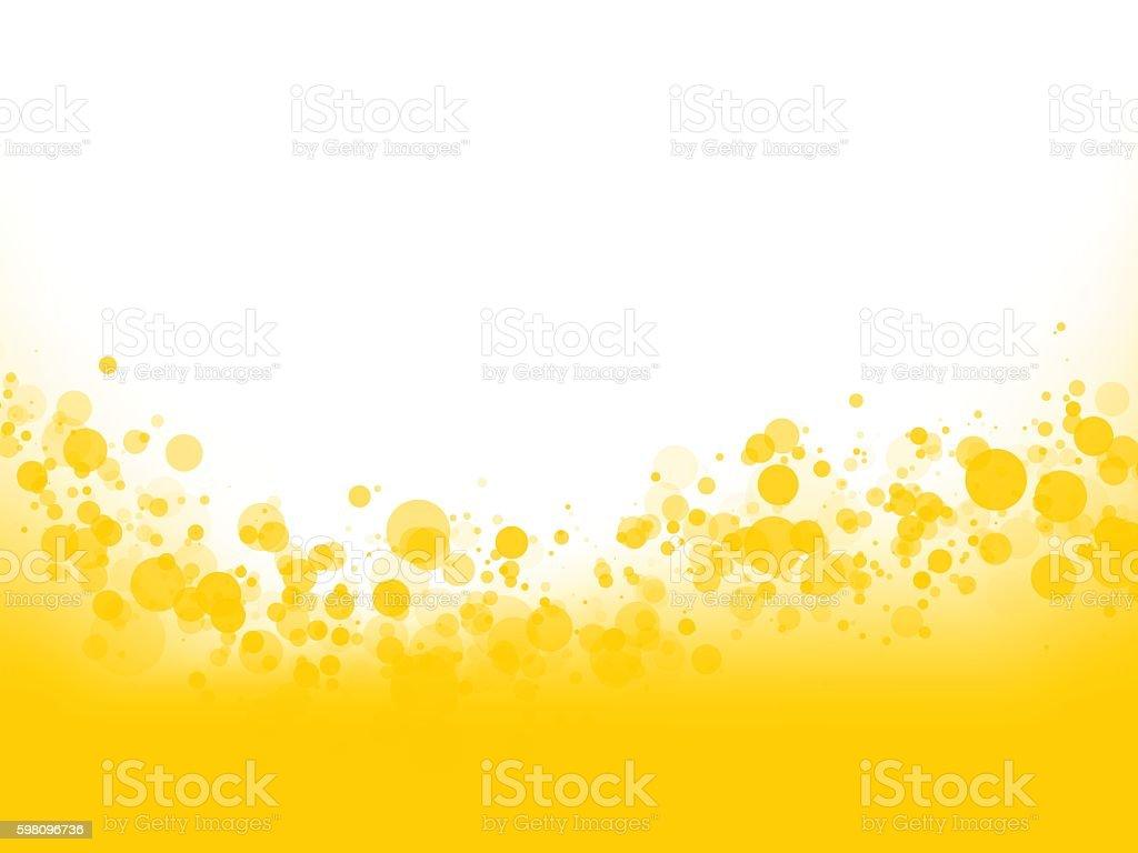 yellow bubbles background vector art illustration