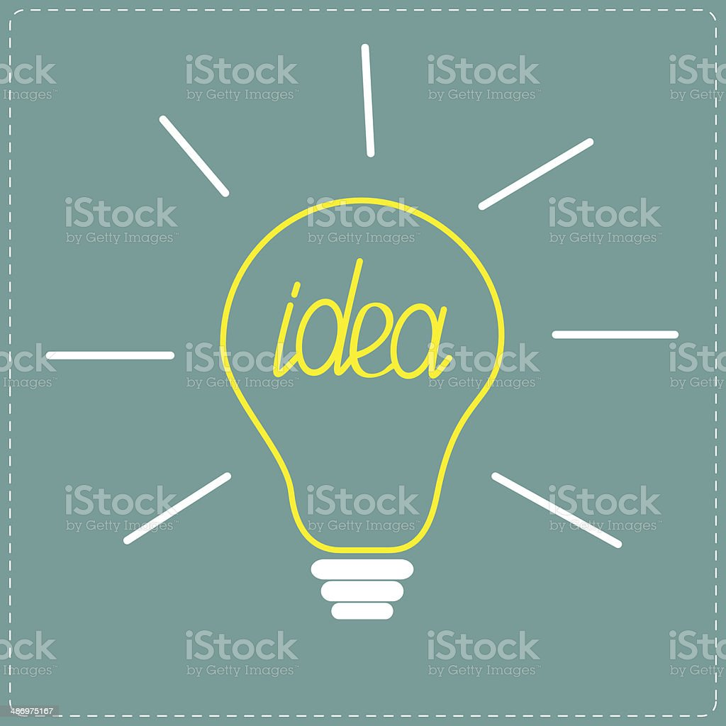 Yellow Bulb Idea Concept Stock Vector Art & More Images of Abstract ...