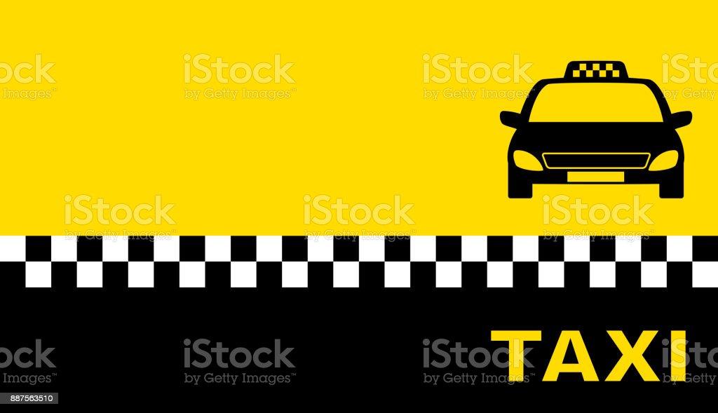 Jaune Carte De Visite Avec Voiture Taxi