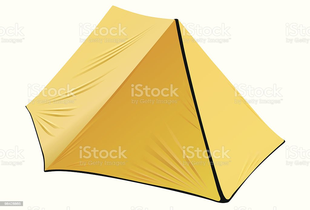 Yellow camping tent royalty-free yellow camping tent stock vector art & more images of camping