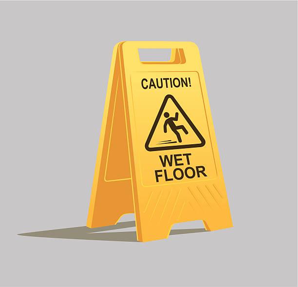 vorsicht wet floor sign - nass stock-grafiken, -clipart, -cartoons und -symbole