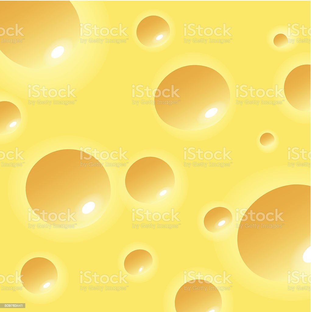 Yellow cheese with wholes texture vector vector art illustration