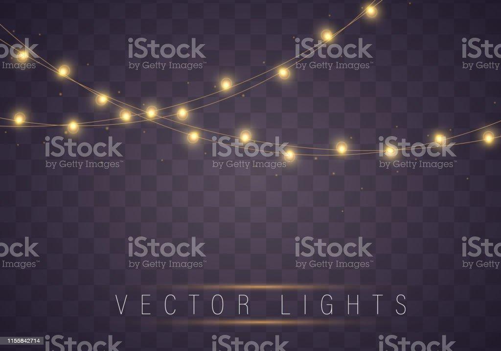 Yellow christmas lights royalty-free yellow christmas lights stock illustration - download image now
