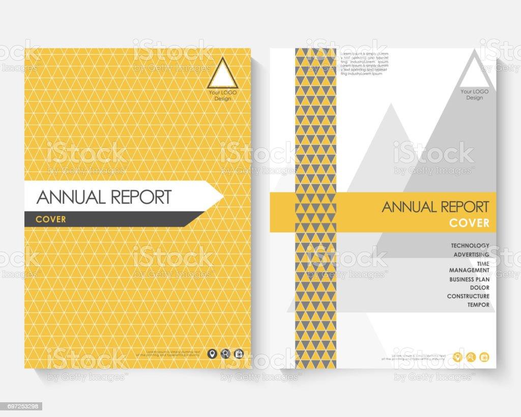 Plantilla De Diseño De Tapa Amarilla Para El Informe Anual Manual De ...