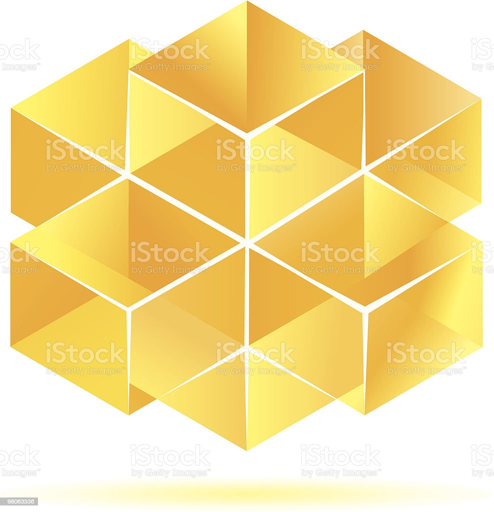 노란색 직육면체 디자인식 royalty-free 노란색 직육면체 디자인식 0명에 대한 스톡 벡터 아트 및 기타 이미지