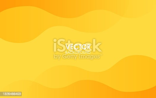istock Yellow curve background. Vector illustration. 1326466403