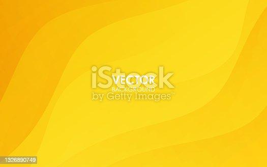 istock Yellow curve background. Vector illustration. 1326890749