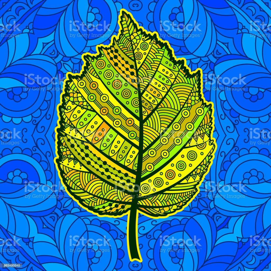 Ilustración de Hoja Decorativa Amarilla y más banco de imágenes de ...