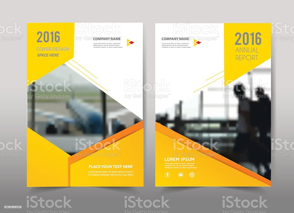 Yellow design on background.Brochure template layout. vector art illustration
