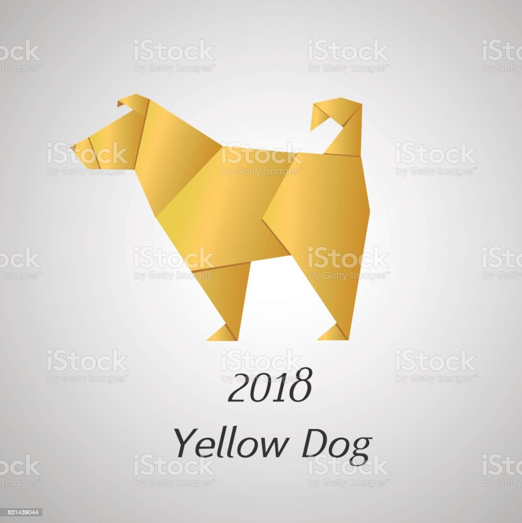 Yellow dog in origami style vector icon 2018 new year symbol stock yellow dog in origami style vector icon 2018 new year symbol royalty free yellow buycottarizona Gallery